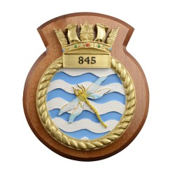 845 NAS - 845 Naval Air Squadron - Unit Badge / Crest / Plaque