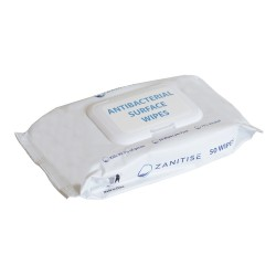 Antibacterial Surface Wipes - Zanitise - 75% Alcohol - 50 Wipes