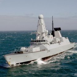 HMS Diamond pictured during Exercise Joint Warrior near Scotland.