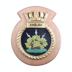 HMS Ambush - Ship Badge / Crest / Plaque