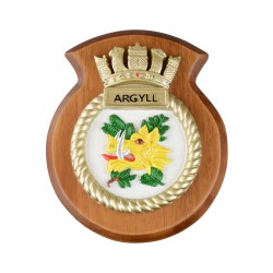 HMS Argyll - Ship Badge / Crest / Plaque