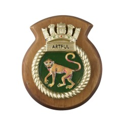 HMS Artful - Ship Badge / Crest / Plaque