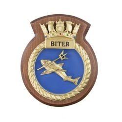 HMS Biter - Ship Badge / Crest / Plaque