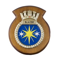 HMS Blazer - Ship Badge / Crest / Plaque