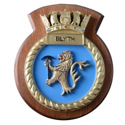 HMS Blyth - Ship Badge / Crest / Plaque