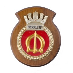 HMS Brocklesby - Ship Badge / Crest / Plaque