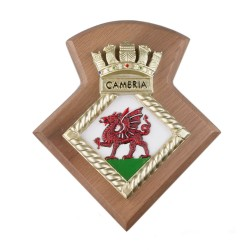 HMS Cambria Royal Navy Unit- Badge / Crest / Plaque