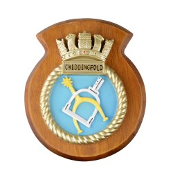 HMS Chiddingfold - Ship Badge / Crest / Plaque