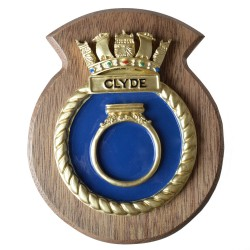 HMS Clyde - Ship Badge / Crest / Plaque