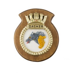 HMS Dasher - Ship Badge / Crest / Plaque