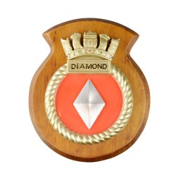 HMS Diamond - Ship Badge / Crest / Plaque