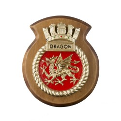 HMS Dragon - Ship Badge / Crest / Plaque
