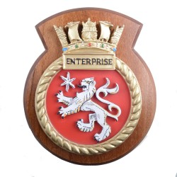 HMS Enterprise - Ship Badge/ Plaque / Crest