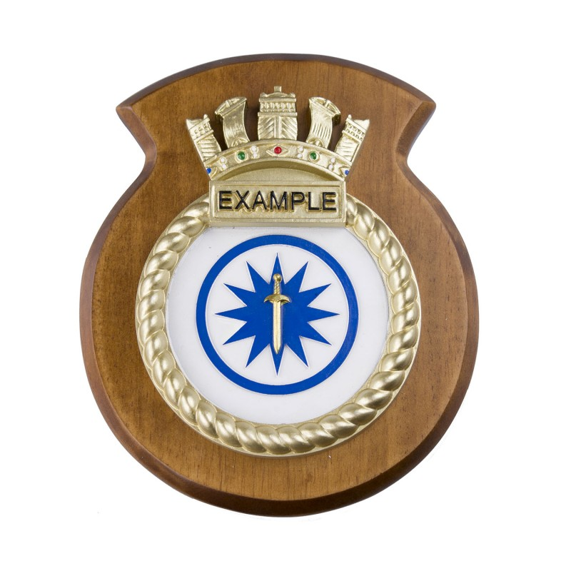hms example ship badge crest plaque
