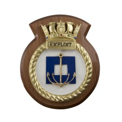 HMS Exploit - Ship Badge / Crest / Plaque