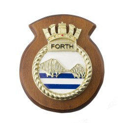 HMS Forth - Ship Badge / Crest / Plaque