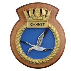 HMS Gannet - Ship Badge/ Plaque / Crest