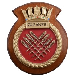 HMS Gleaner - Ship Badge / Plaque / Crest