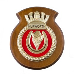 HMS Hurworth - Ship Crest / Plaque / Badge