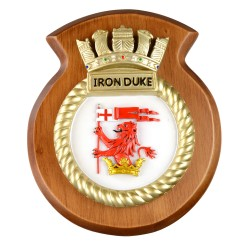 HMS Iron Duke - Ship Badge/ Plaque / Crest