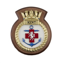 HMS Kent - Ship Badge / Plaque / Crest