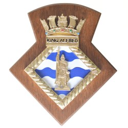 HMS King Alfred RNR - Unit Crest / Plaque / Badge