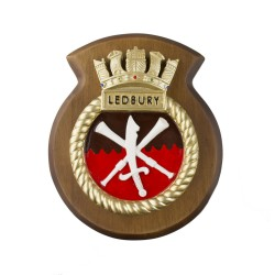 HMS Ledbury - Ship Badge / Plaque / Crest