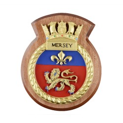 HMS Mersey - Ship Badge / Plaque / Crest