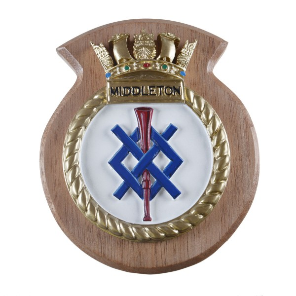 HMS Middleton - Ship Badge / Plaque / Crest