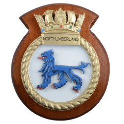 HMS Northumberland - Ship Badge / Plaque / Crest