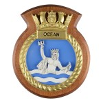 HMS Ocean - Ship Badge / Plaque / Crest