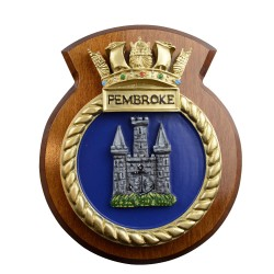 HMS Pembroke - Ship Badge / Plaque / Crest