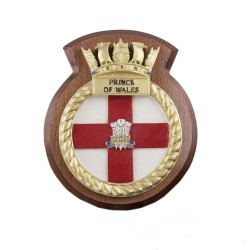 HMS Prince of Wales - Ship Badge / Crest / Plaque