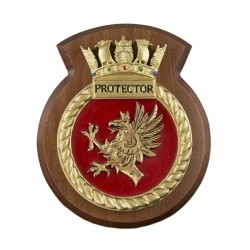 HMS Protector - Ship Badge / Crest / Plaque