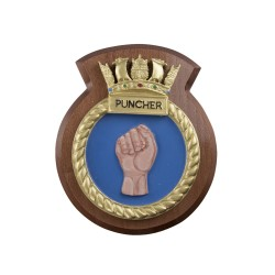 HMS Puncher - Ship Badge / Crest / Plaque