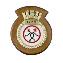 HMS Raider - Ship Badge / Crest / Plaque
