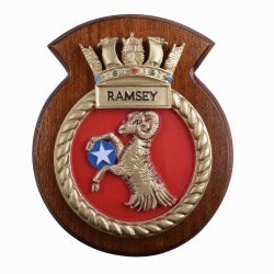 HMS Ramsey - Ship Badge / Plaque / Crest