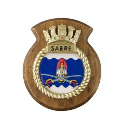 HMS Sabre - Ship Badge / Plaque / Crest