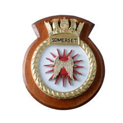 HMS Somerset - Ship Badge / Plaque / Crest