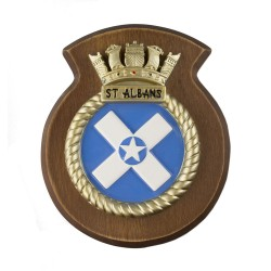 HMS ST Albans - Ship Badge / Plaque / Crest
