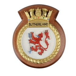HMS Sutherland - Ship Badge / Plaque / Crest