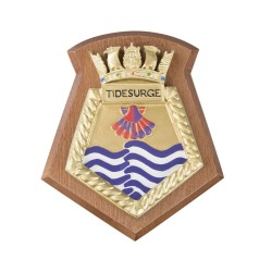 Tidesurge - Royal Fleet Auxiliary - RFA - Ship Badge / Crest / Plaque