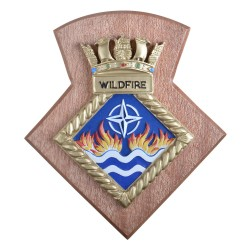 HMS Wildfire RNR - Unit Crest / Plaque / Badge