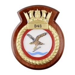 848 NAS - 848 Naval Air Squadron - Unit Badge / Crest / Plaque