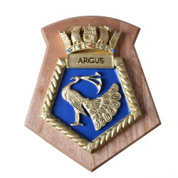 Argus - RFA - Royal Fleet Auxiliary - Ship Badge / Plaque / Crest