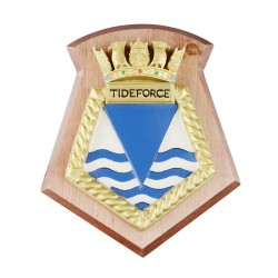 Tideforce - RFA - Royal Fleet Auxiliary - Ship Badge / Plaque / Crest