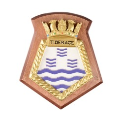 Tiderace - RFA - Royal Fleet Auxiliary - Ship Badge / Plaque / Crest