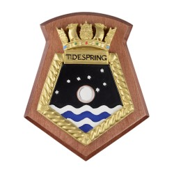 Tidespring - RFA - Royal Fleet Auxiliary - Ship Badge / Plaque / Crest