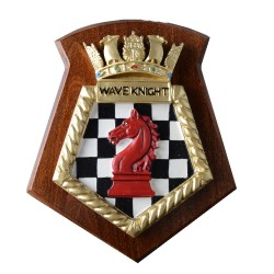 Wave Knight - RFA - Royal Fleet Auxiliary - Ship Badge / Plaque / Crest