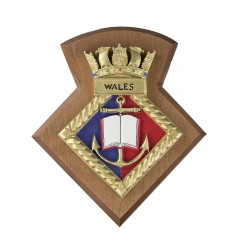 Wales URNU - Wales University Royal Naval Unit - Badge / Crest / Plaque